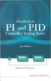 Handbook of PI and PID Controller Tuning Rules - Read