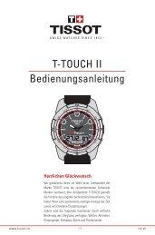 T-TOUCH II Bedienungsanleitung - Tissot