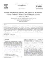 Reactions of nitriles in ices relevant to Titan - Sciences and ...
