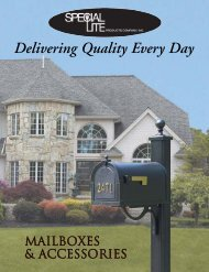 Mailbox Catalog - Special Lite Products