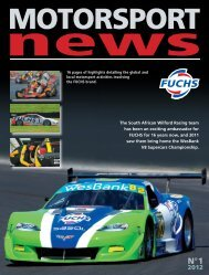 The South African Wilford Racing team has been ... - fuchs petrolub ag