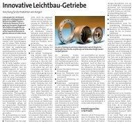 Innovative Leichtbau-Getriebe - Harmonic Drive AG