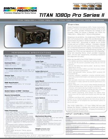 TITAN 1080p Pro Series II - ProyectoresOK.com