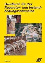 Handbuch für das Reparatur- und Instand- haltungsschweißen - Esab
