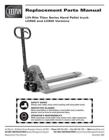 hand pallet truck operating instructions