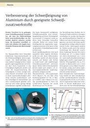 Verbesserung der Schweißeignung von Aluminium ... - Laser Magazin