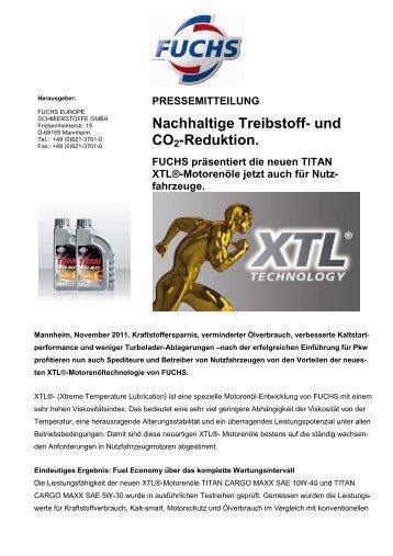 FUCHS Austria - Nachhaltige Treibstoff und CO2-Reduktion