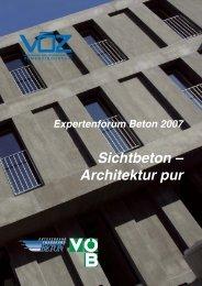 Sichtbeton – Architektur pur - VÖB Verband Österreichischer Beton