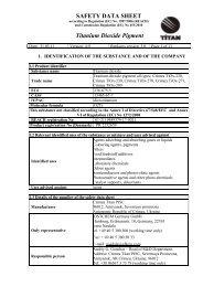 SAFETY DATA SHEET Titanium Dioxide Pigment - Crimea Titan PJSC
