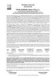 TITAN EUROPE 2006-4 FS p.l.c. - Irish Stock Exchange