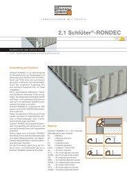 2-1 RONDEC DE.indd - Schlüter-Systems