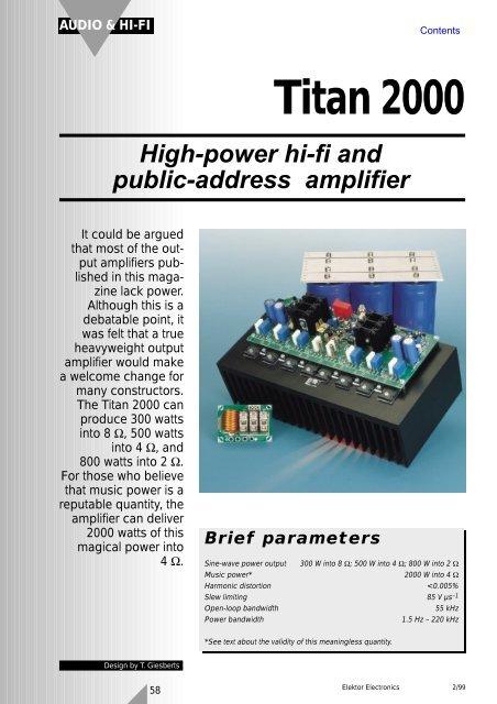 2000W high power amplifier 2SC5359 2SA1987 t