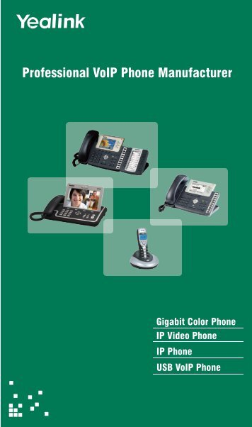 Yealink 2012 Catalog - Telco Data