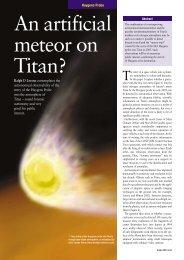 An artificial meteor on Titan? - CiteSeerX