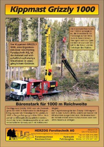Kippmast Grizzly 1000 - Herzog Forsttechnik
