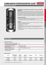 ACUMULADOR DE ESTRATIFICACIÓN PRO-CLEANPLUS - TiSUN