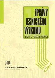 Zprávy lesnického výzkumu 4/2010 - Výzkumný ústav lesního ...