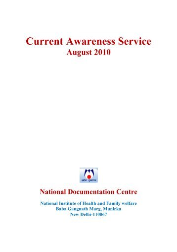 Current Awareness Service - National Institute of health and family ...