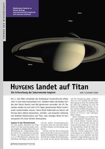 HUYGENS landet auf Titan