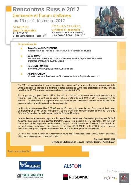 L'agenda de Business France