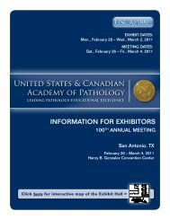 Exhibitor Prospectus - United States and Canadian Academy of ...