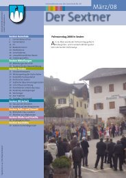 Gemeindeblatt der Sextner März 2008 - Nr. 69 (ca