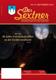 Gemeindeblatt der Sextner September 2012