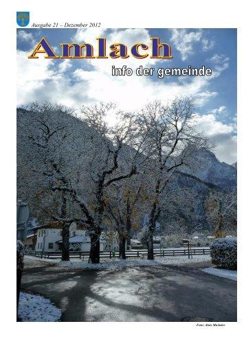 Gemeindezeitung 2012 - Gemeinde Amlach