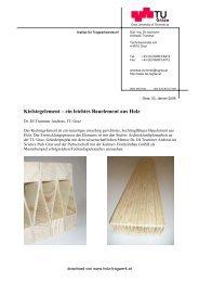 Kielstegelement – ein leichtes Bauelement aus Holz - Kurt Pock