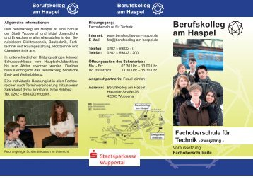 Download des Flyers - Berufskolleg am Haspel