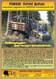PONSSE ALPINE Buffalo - Herzog Forsttechnik