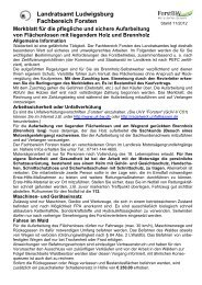 Landratsamt Ludwigsburg Fachbereich Forsten