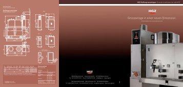 Download PDF - HGZ Kaffeemaschinen