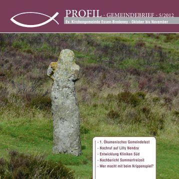 profil- gemeindebrief - 5/2012 - Ev. Kirchengemeinde Essen-Bredeney
