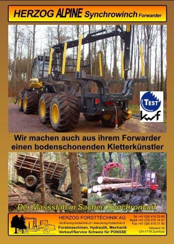 Wir machen auch aus ihrem Forwarder einen ... - Herzog Forsttechnik