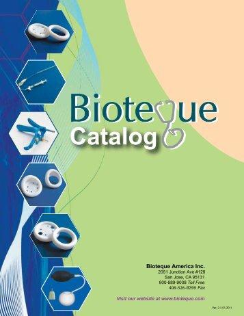 Catalog - Bioteque America, Inc.