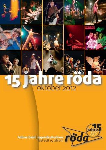 Programmheft 10/2012 | 15 Jahre - Röda