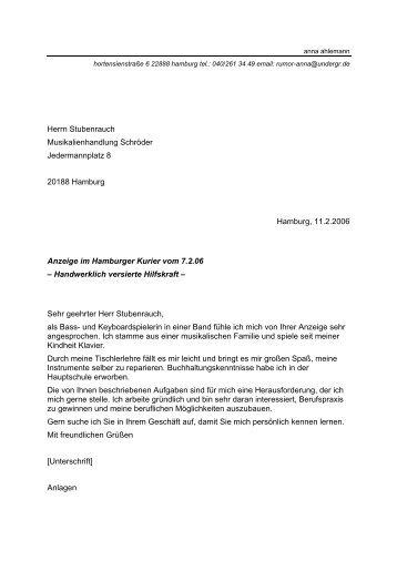 Bewerbung als Hilfskraft - STARK Verlag