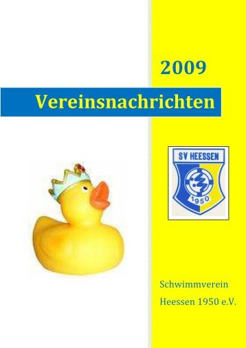 Vereinsheft 2009 - SV Heessen 1950 eV