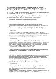 Verordnung des Bundesministers für Wirtschaft und Arbeit ... - Tischler