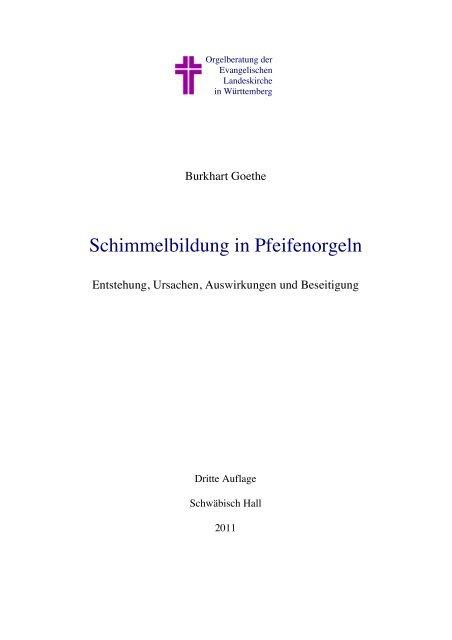 Schimmel in Orgeln 2011