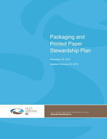 Packaging and Printed Paper Stewardship Plan
