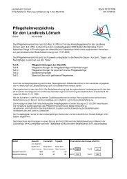 Kreispflegeheimverzeichnis vom 14.06.2006 - Landkreis Lörrach