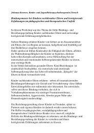 Bindungsmuster bei Kindern suchtkranker ... - Landkreis Lörrach