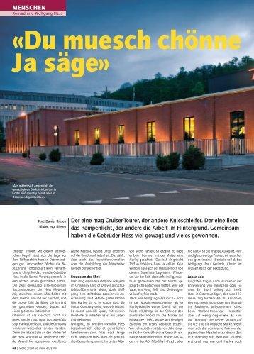 «Du muesch chönne Ja säge» - Hess Motorrad AG
