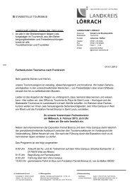 Einladung Fachexkursion Tourismus nach ... - Landkreis Lörrach