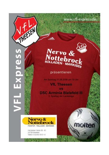VfL Theesen vs DSC Arminia Bielefeld III - abraweb