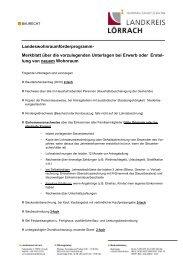 Landeswohnraumförderprogramm- Merkblatt ... - Landkreis Lörrach