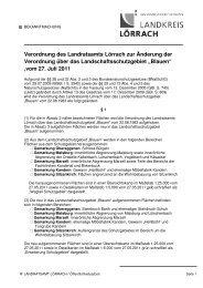 Amtl.Bek.Änderung der Verordnung über LschG ... - Landkreis Lörrach