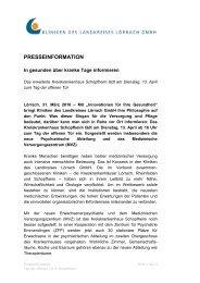 Presseinformation des Kreiskrankenhauses ... - Landkreis Lörrach